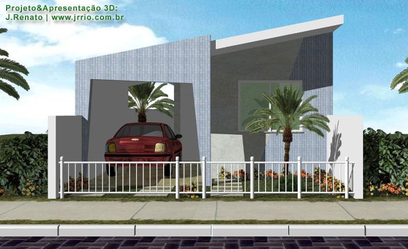 Casa 2 quartos em terreno estreito planta e interiores for Fachada apartamentos pequenos