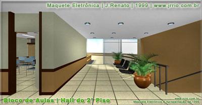 hall ou sala de uso comum do segundo piso do bloco de aulas