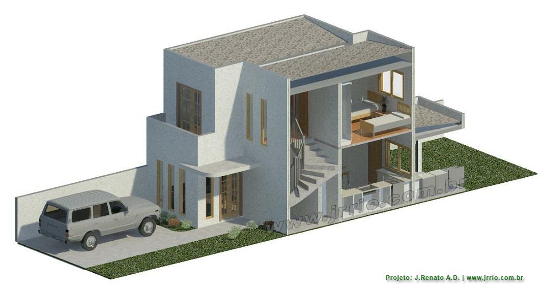 Desenhos de casa 3d criar plantas de casas online site for Casa moderna revit