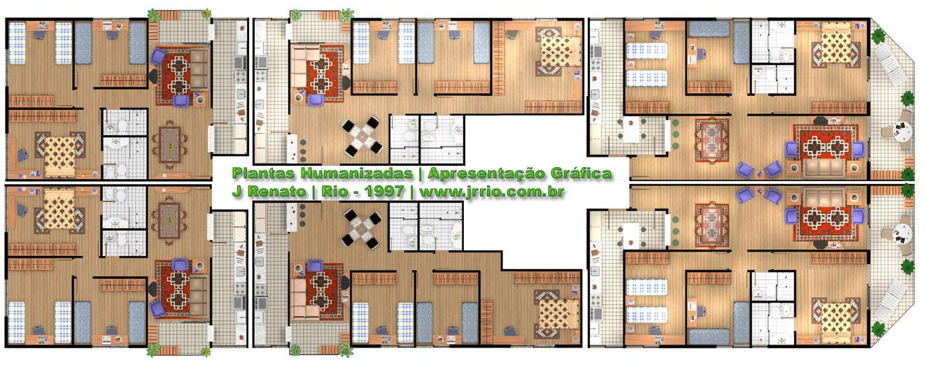 Extremamente Prédio Residêncial com Garagem e Área de Lazer - Modelo 3d EU37