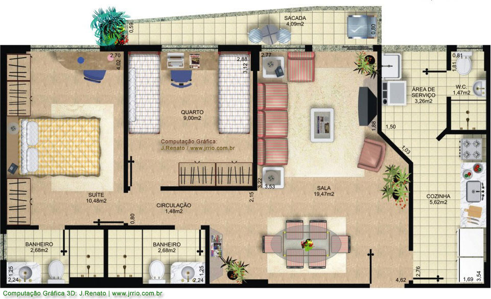 Home ideas apartments floor plans for Plan rendering ideas