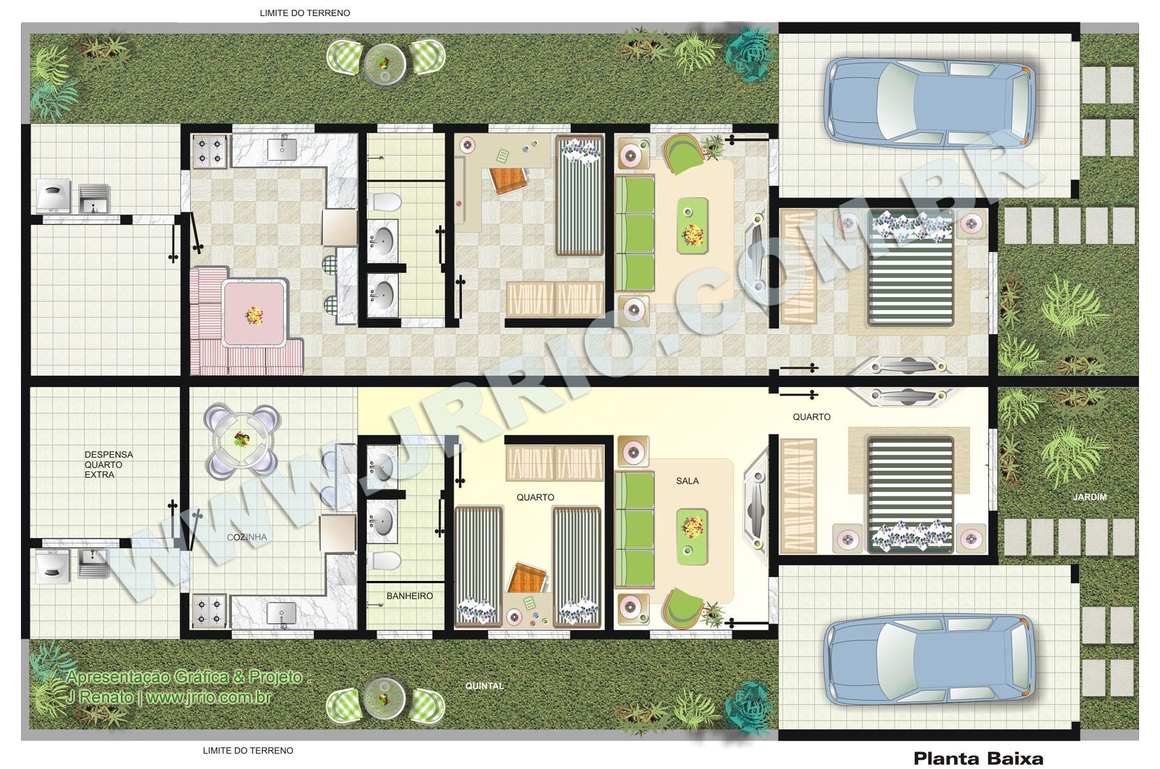 Plantas de casas geminadas t rreas for Modelo de casa x dentro