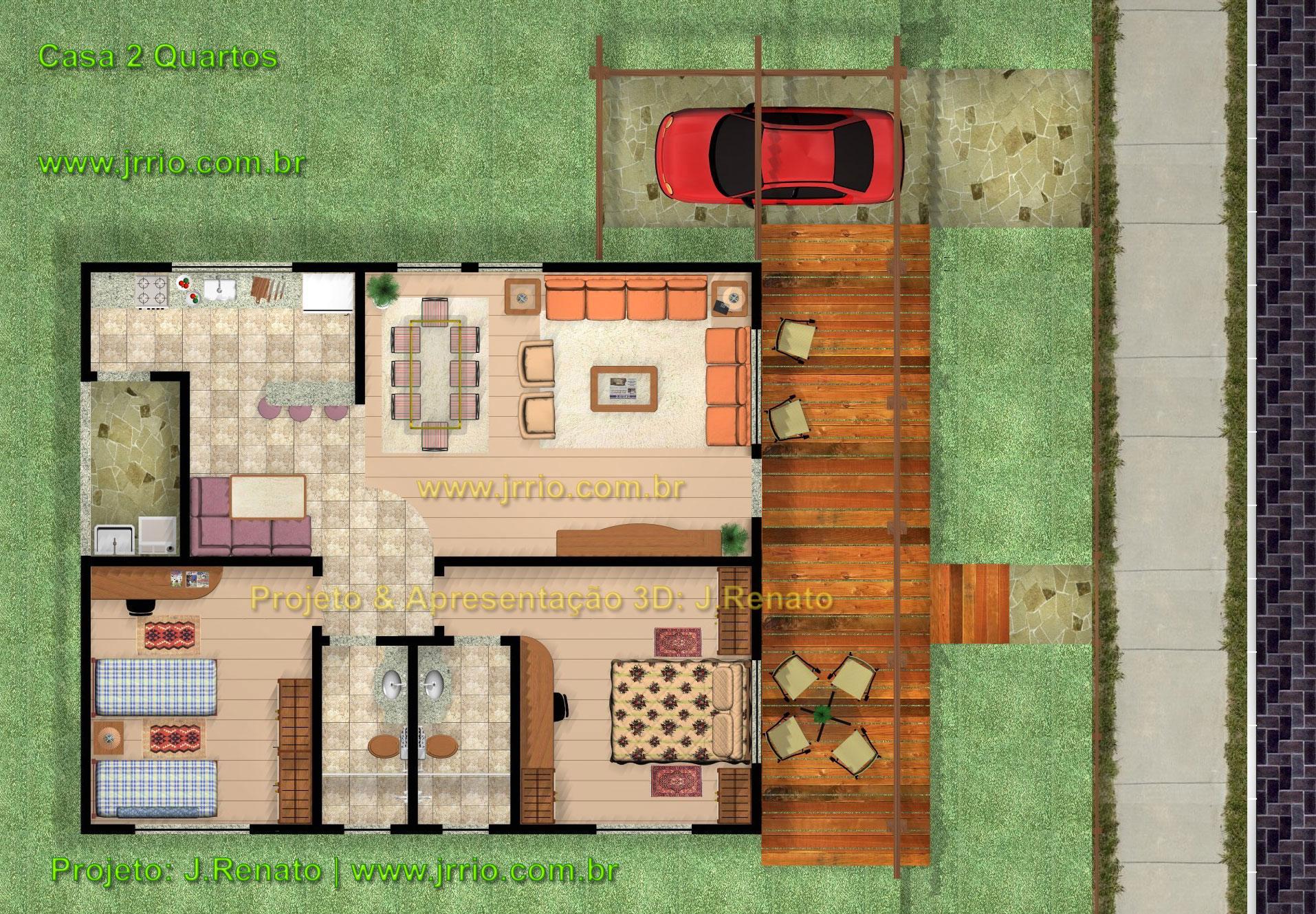 Top Casa de 2 Quartos aludindo a Casas Coloniais e Rusticas VY48